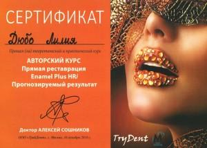 Сертификат дюбо1 копия