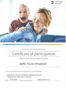 Сертификат дюбо13 копия